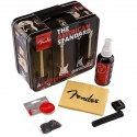 Fender Special Edition Tin Guitar Care Polish, 12 Picks, Stringw