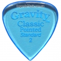 Gravity Picks GCPS2P Classic Pointed Standard Polished 2.00 mm