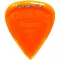 Gravity Picks GRAM3P Razer Mini Jazz Polished 3.00 mm