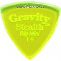 Gravity Picks GSSB15P Stealth Big Mini Polished 1.50 mm