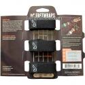 Gruv Gear FW-3PK-MD FretWraps String Muters 3-Pack Black Medium