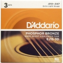 Струны D'Addario EJ15-3D Phosphor Bronze 10-47 3 sets