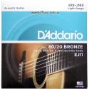 Струны D'Addario EJ11 Bronze 80/20 12-53