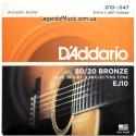 Струны D'Addario EJ10 Bronze 80/20 10-47