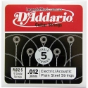 Струна D'Addario PL012-5 Plain Steel 0.12 акустика и электр х5