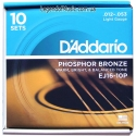Струны D'Addario EJ16-10P Phosphor Bronze 12-53 10 sets