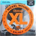 Струны D'Addario EXL110-7 7-String Nickel Wound 10-59