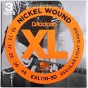 Струны D'Addario EXL110-3D Nickel Wound 10-46 3sets