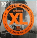 Струны D'Addario EXL110-10P Nickel Wound 10-46 10 sets