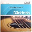 Струны D'Addario EJ16 Phosphor Bronze 12-53