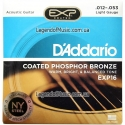 Струны D'Addario EXP16 Coated Phosphor Bronze 12-53