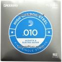 Струна D'Addario PL010-5 Plain Steel 0.10 акустика и электр х5