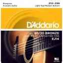 Струны D'Addario EJ14 Bronze 80/20 12-56