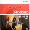 Струны D'Addario EJ12 Bronze 80/20 13-56