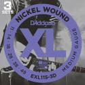 Струны D'Addario EXL116-3D Nickel Wound 11-52 3 sets
