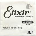 Струна Elixir 15124 Acoustic Nanoweb Bronze .024 акустика