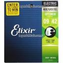 Струны Elixir 19002 Optiweb Nickel Plated Steel Super Light 9-42