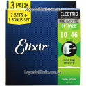 Струны Elixir 16552 Optiweb Light 10-46 3 sets