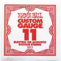 Струна Ernie Ball 1011 Plain Steel .011 (акустика и электро)