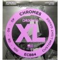 Струны бас D'Addario ECB84 Chromes Custom Light 40-100