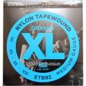 Струны бас D'Addario ETB92 Nylon Tape Wound Medium 50-105