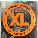 Струны бас D'Addario EXL160TP Medium 50-105 2 sets