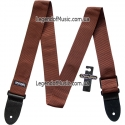 Ремень гитарный Dunlop D07-01BR Guitar Poly Strap Brown