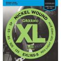 Струны бас D'Addario EXL165-5 5-String Regular Light 45-135